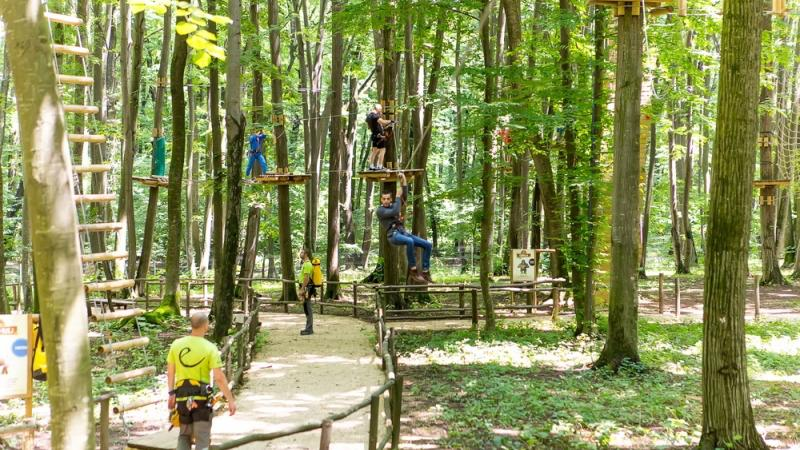 High ropes park near Bucharest