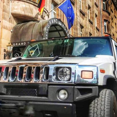 Hummer limousine transfer to your Bucharest hotel