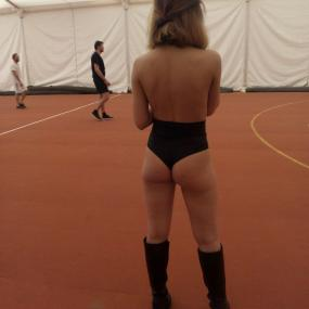 Play football a little differently with a Romanian Topless Ref